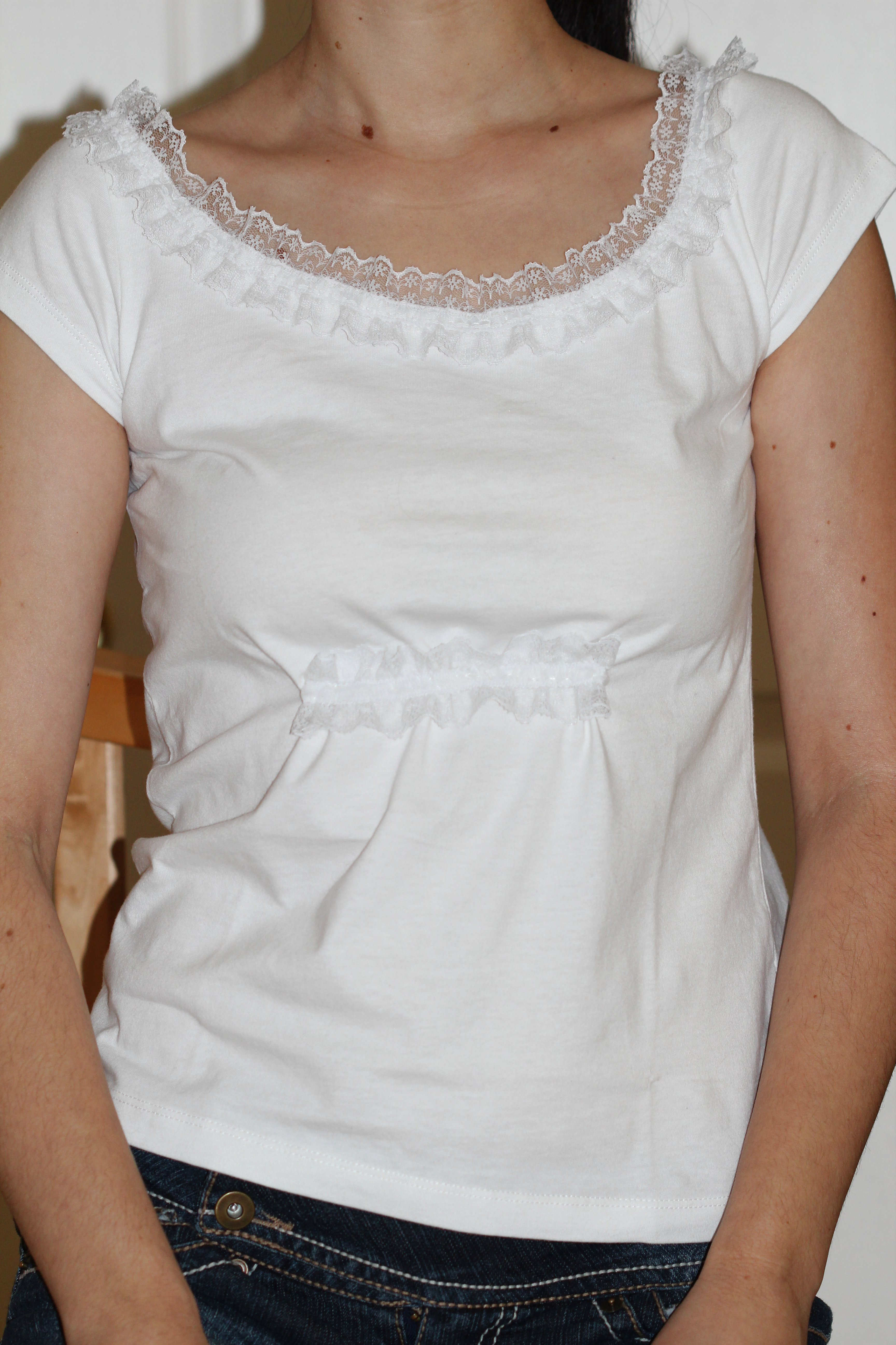 White t shirt diy creative side of me for How to put a picture on a shirt diy
