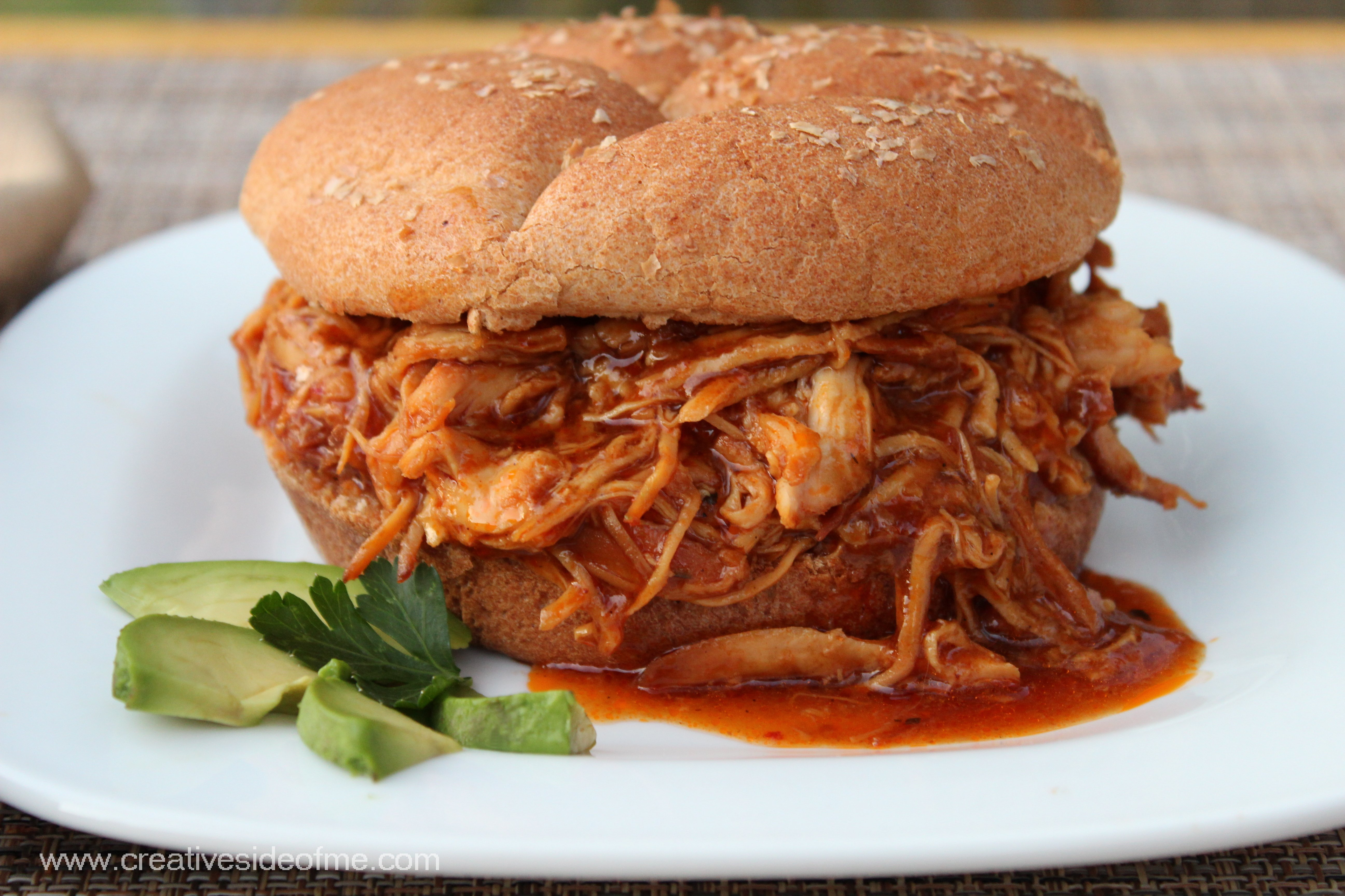 Slow Cooker Chicken Barbecue | Creative Side of Me