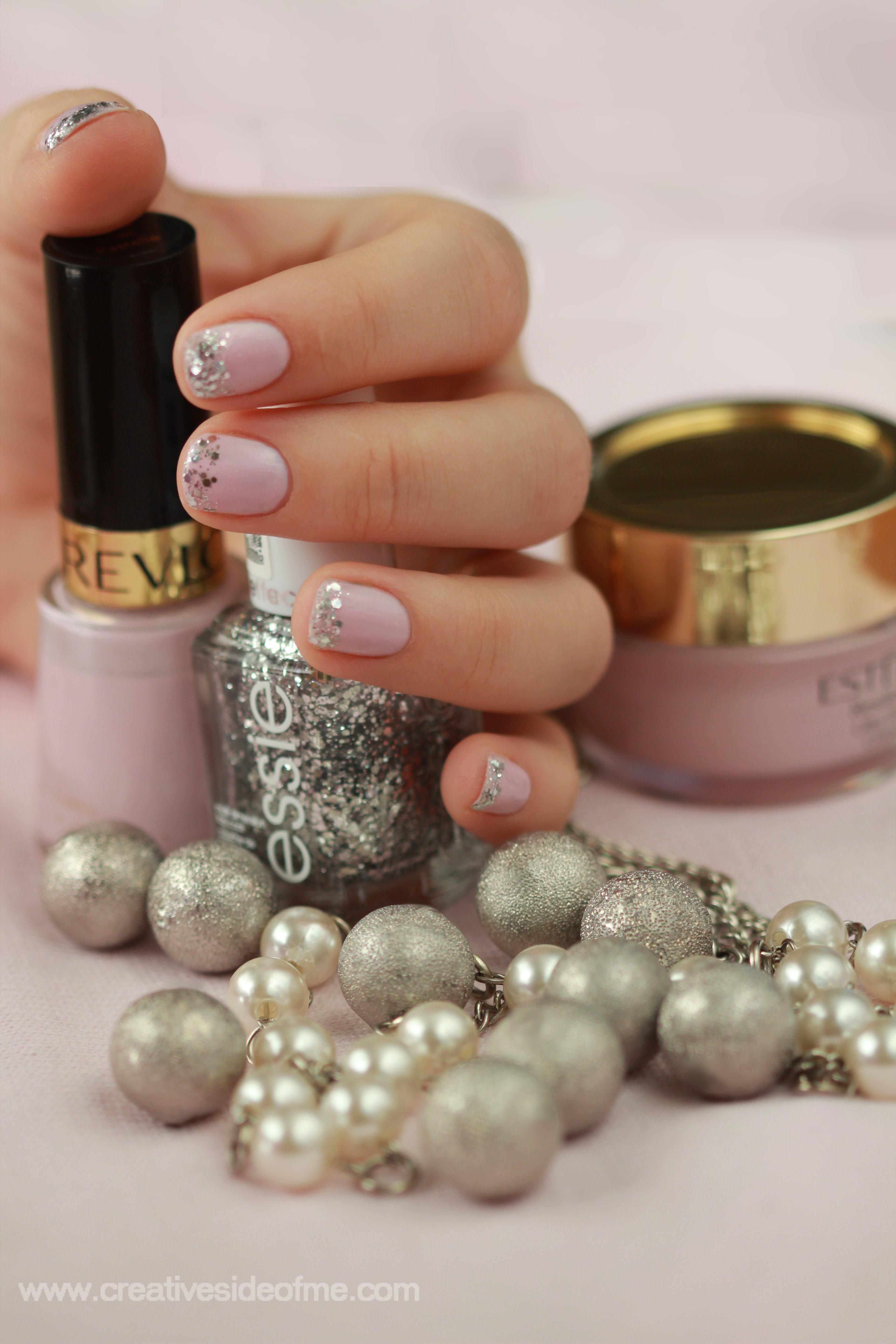 Light Pink And Silver Nail Designs Images u0026 Pictures - Becuo
